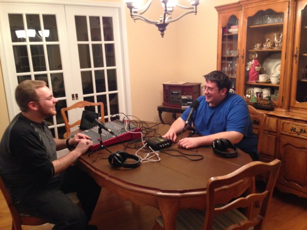 Just us sharing a good laugh before recording. We didn't talk about much before we started so everything would be new and fresh.