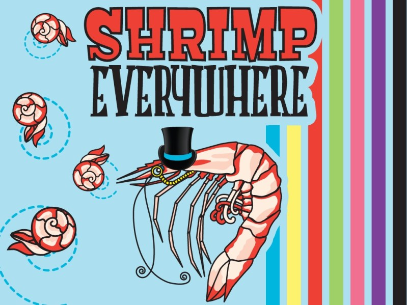 "Black Slither Games' ""Shrimp Everywhere"" featuring Sir Shrimp. Image courtesy of Black Slither Games."