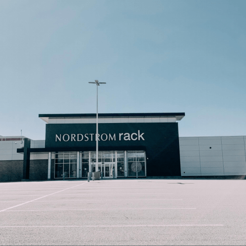 This photo was taken at the Nordstrom Rack at the Warwick Mall in RI. The first time I have witnessed the mall being completely shut down.