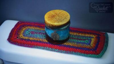 Vibrant Tank Topper Crochet Placemat