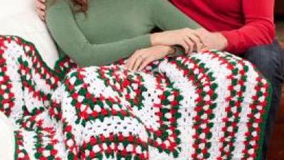 Crochet Christmas Holiday Throw