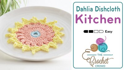 Crochet Dahlia Dishcloth + Tutorial