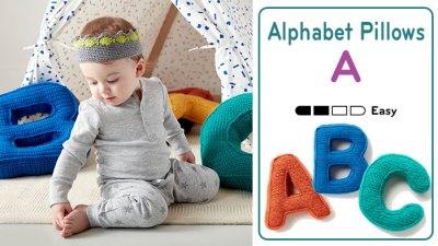 Crochet Alphabet Pillows + Tutorials