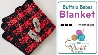 Crochet Buffalo Plaid Babes Toddler Blanket