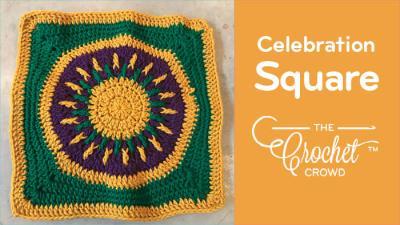 Crochet Celebration Square for Charity on Board Crochet Cruises