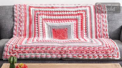 Crochet The Study of Texture Blanket