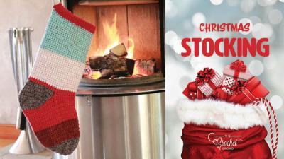 Crochet Christmas Stockings with Bernat POP! or Caron Cakes