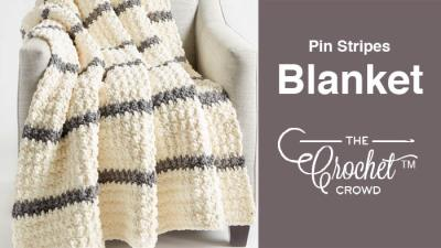 Crochet Pin Stripes Blanket + Tutorial