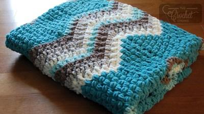 Crochet Breakaway Waves Blanket