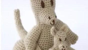 crochet kangaroo | Crochet patterns, Crochet toys patterns ... | 200x350