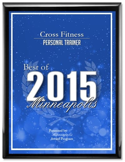 JC Cross given Best Personal Trainer Award in Minneapolis 2015