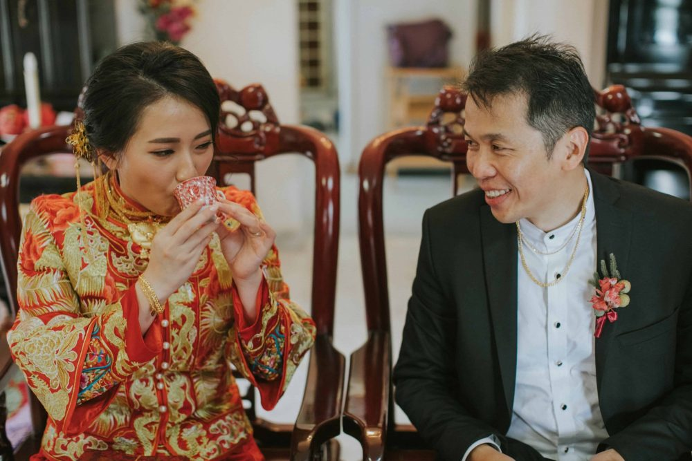 Kevin Tan Cliff Choong The Cross Effects Malaysia Destination Wedding Photographers Kuala Lumpur Actual Day in Petaling Jaya Photography Chinese Traditional Tea Ceremony Couple Portrait St. Regis Five Stars Hotel