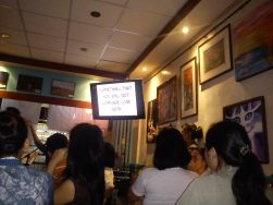 Xandy and I went on an open mic night in Kape Zambo. It featured 4 comedians that really made our night extra special. Shame, I never got the courage to go infront, grab the mic, and deliver one of my own pieces (a poem, or a song)