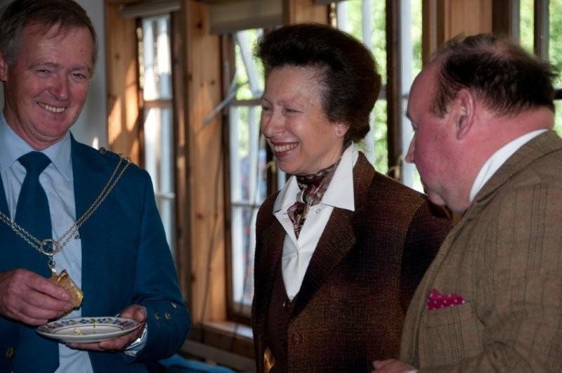 stock photo of Princess Anne, smiling at an engagement