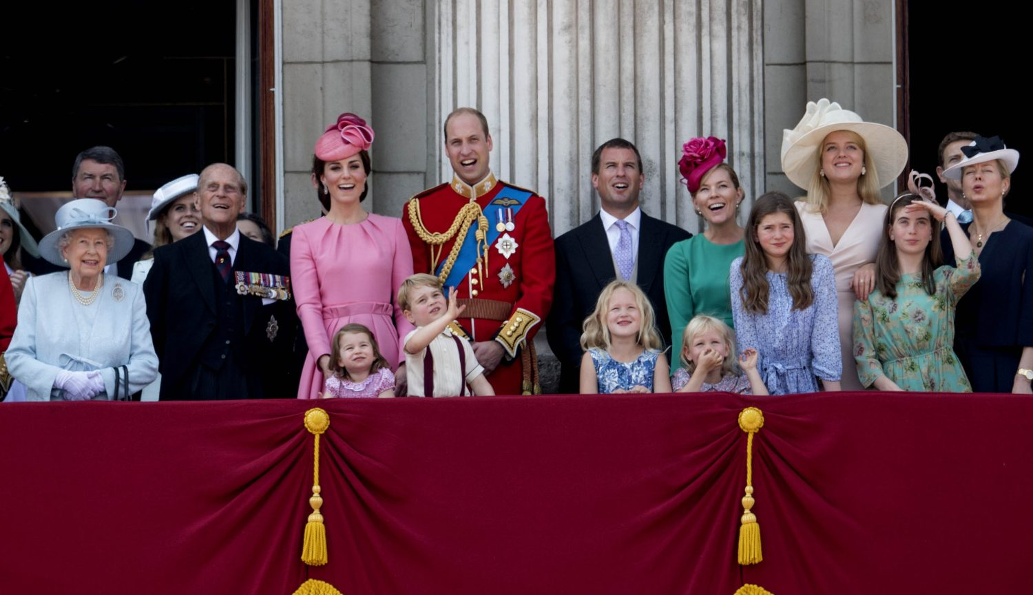 The Royal Family at Trooping the Colour in 2018. (Andrew Parsons / i-Images)