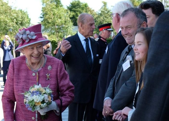 The Queen and Prince Philip opened a new section of canal in Falkirk today (Royal Family)