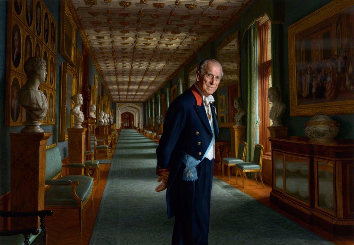 a new portrait of prince philip, duke of edinburgh acknowledges his danish heritage (royal family)