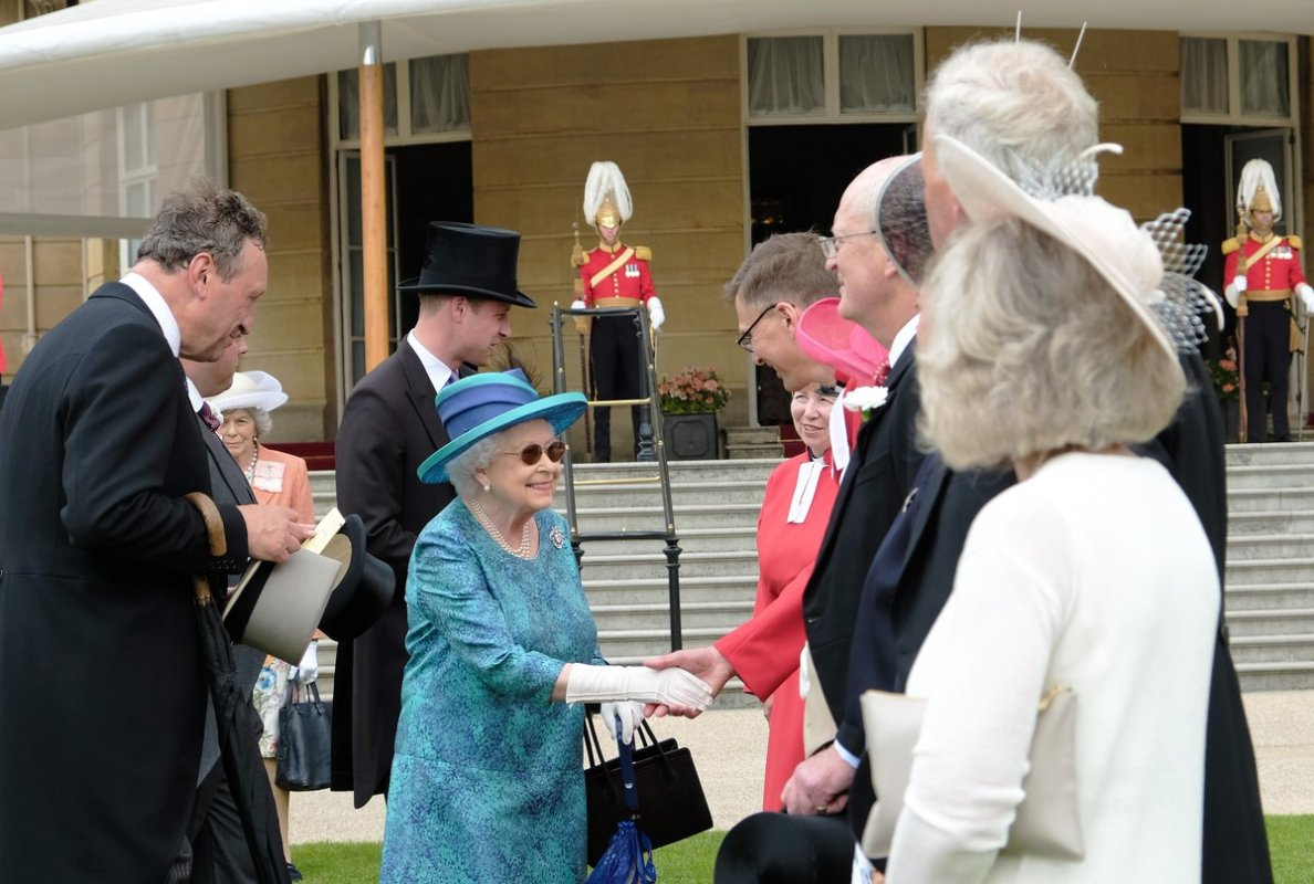 Her Majesty The Queen attends a Garden Party at Buckingham Palace (Royal Family)