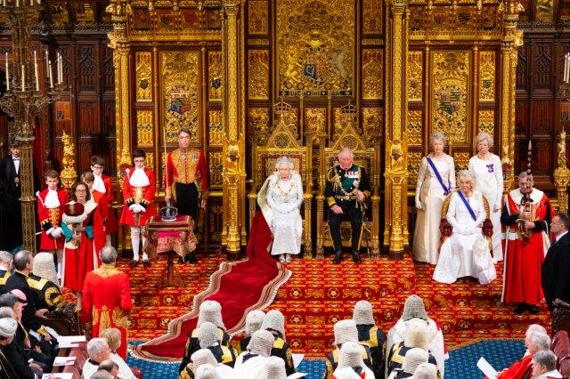 Queen joined by Prince Charles & Camilla for State Opening of Parliament