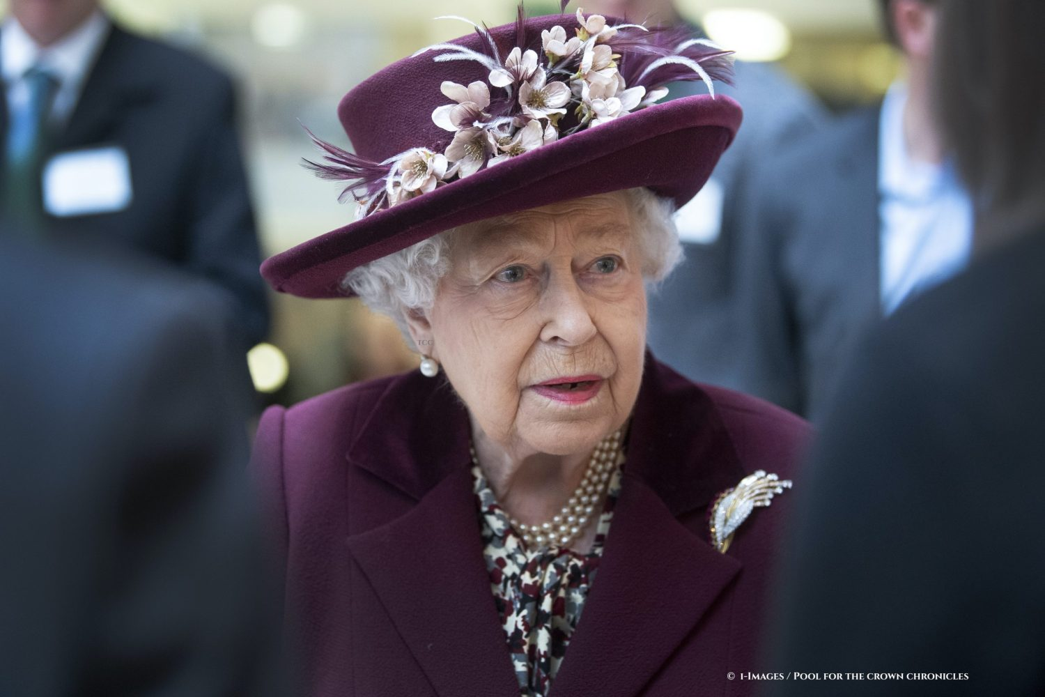 Queen Elizabeth II during a visit at the headquarters of MI5, the UK's domestic counter-intelligence and security agency Picture by  i-Images / Pool