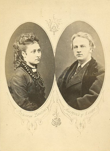 John Campbell, Marquis of Lorne and Princess Louise on their engagement (Wikimedia commons)