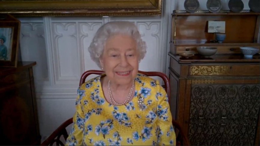 The Queen was delighted with her new portrait