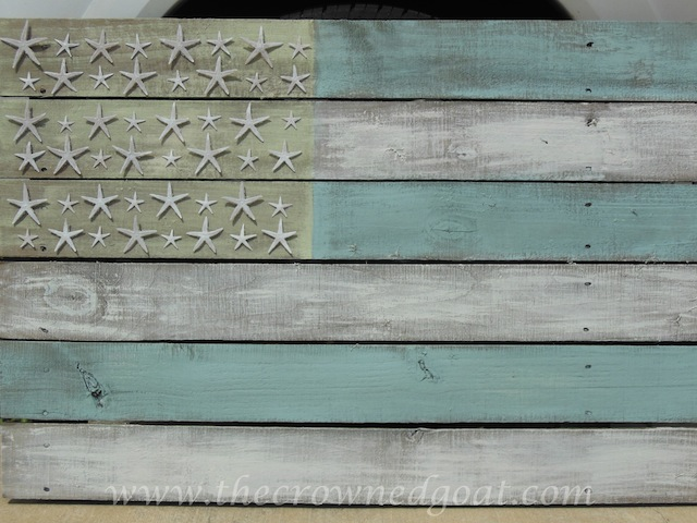 Coastal flag made from old fencing