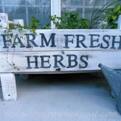 Handmade Wooden Herb Bed