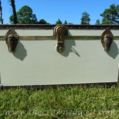 Painting a Footlocker Trunk with Annie Sloan Chalk Paint