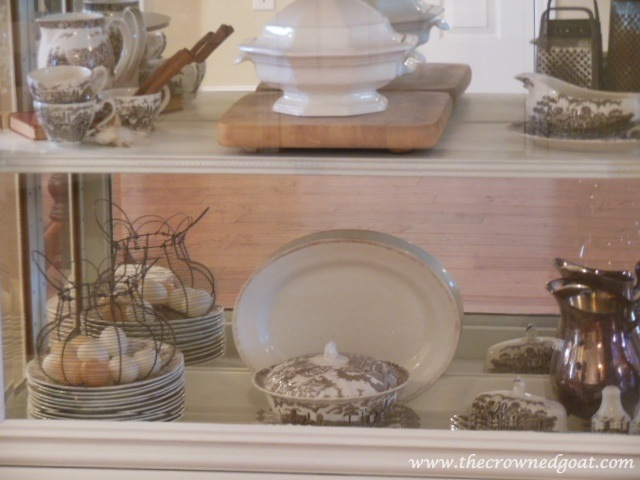 041814-12 One Project Leads to Another…Styling a China Cabinet Decorating