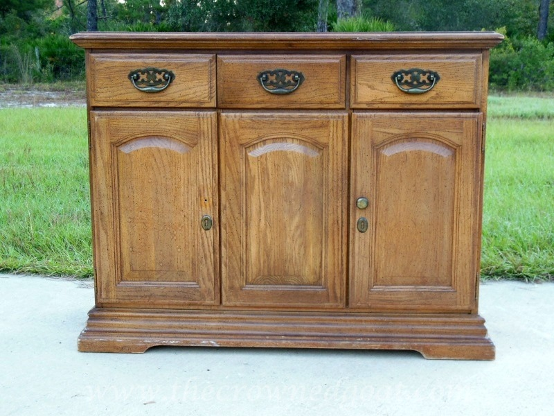 102014-1 Annie Sloan Chalk Paint Buffet Makeover Painted Furniture