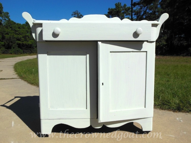 102714-5 Washstand Makeover with DIY Chalk Inspired Paint Recipe Painted Furniture