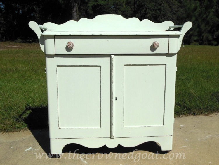 102714-6 Washstand Makeover with DIY Chalk Inspired Paint Recipe Painted Furniture