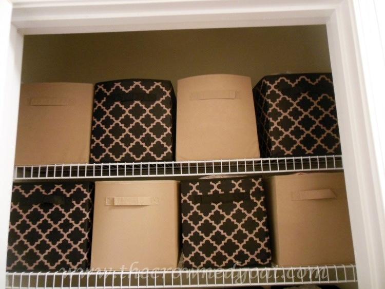 Dollar Store  Linen Closet Organization-102214-8