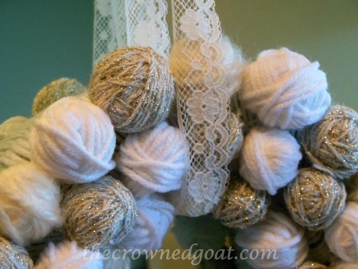 120314-4 Holiday Blog Series: Yarn Ball Wreath Crafts Holidays