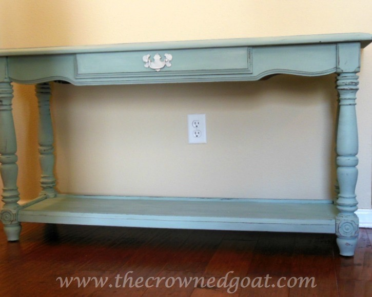011515-5-Annie-Sloan-Chalk-Paint-in-Duck-Egg ASCP Console Table in Duck Egg Painted Furniture