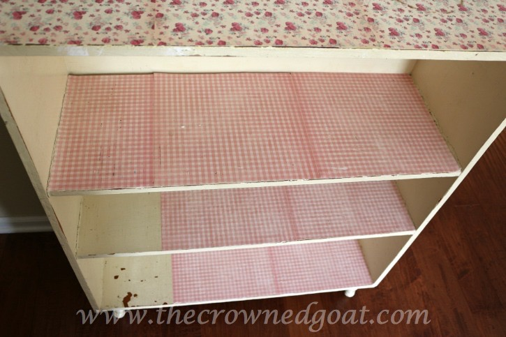 012015-3 Bookcase Update with Adhesive Paper Crafts