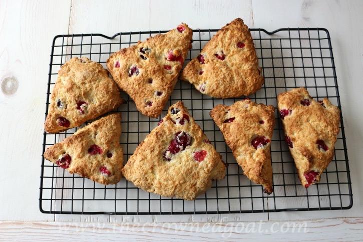 021215-17 Cranberry and Orange Scones with Orange Glaze Baking