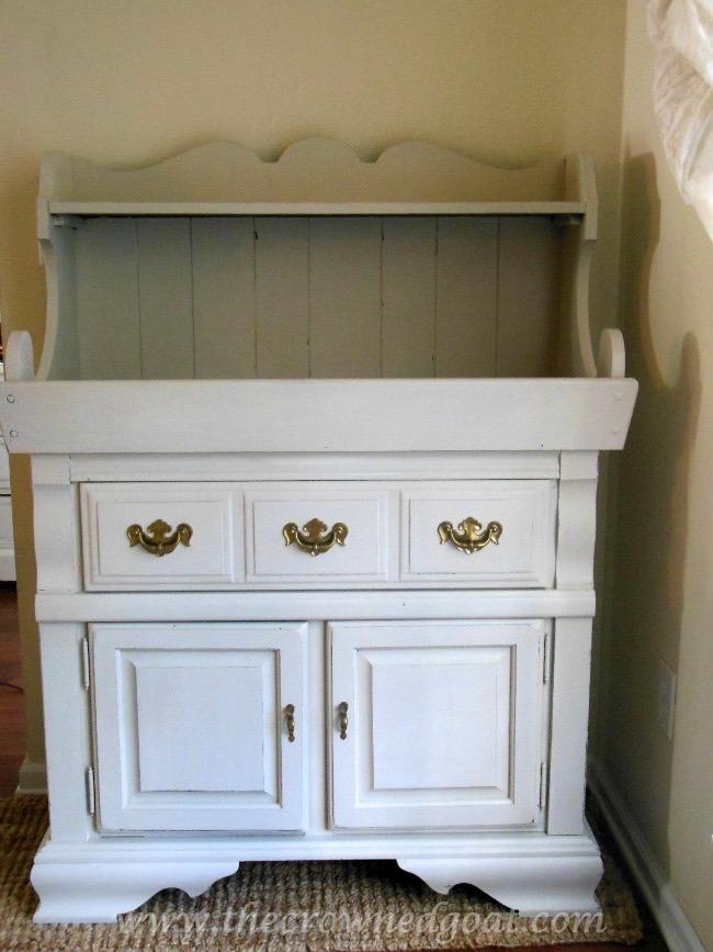 022415-9 Dry Sink Painted in Lambs Wool Painted Furniture