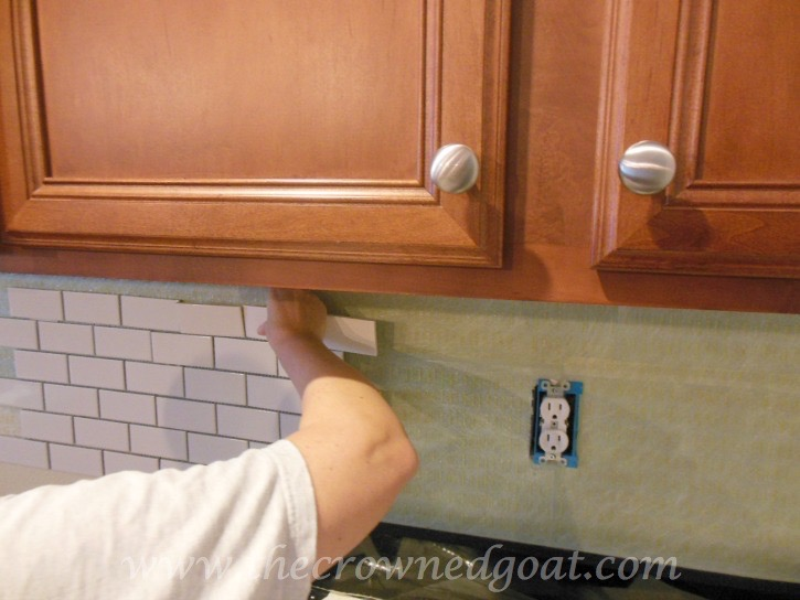 030315-10 Kitchen Diaries: Subway Tile Application Day 1 DIY