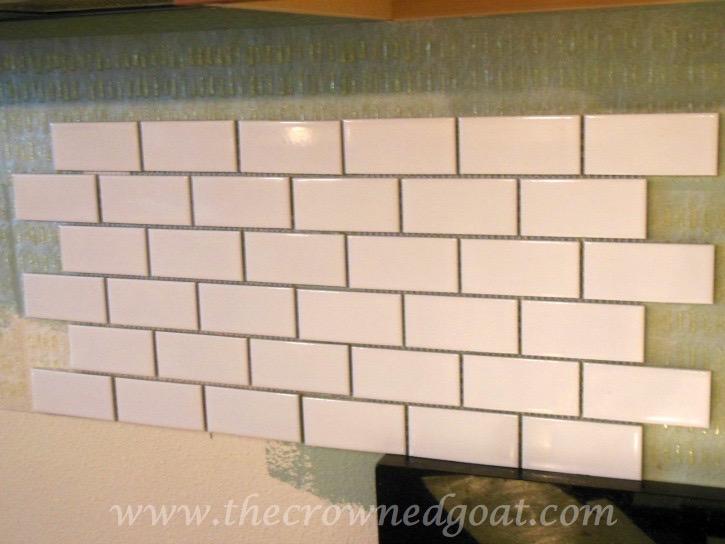 030315-11 Kitchen Diaries: Subway Tile Application Day 1 DIY