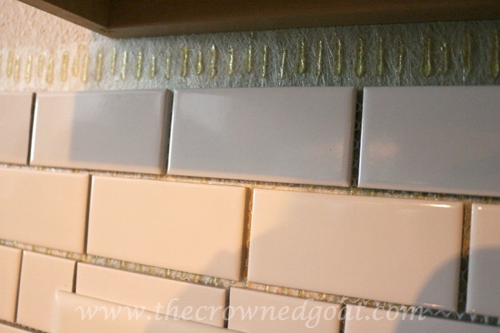 030315 12 Kitchen Diaries: Subway Tile Backsplash Grout Day 2 DIY