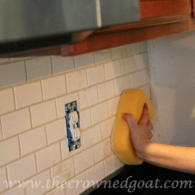 Kitchen Diaries: Subway Tile Backsplash Grout Day 2