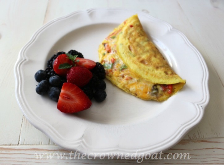 032015-5 Easy Veggie and Herb Omelet - The Crowned Goat