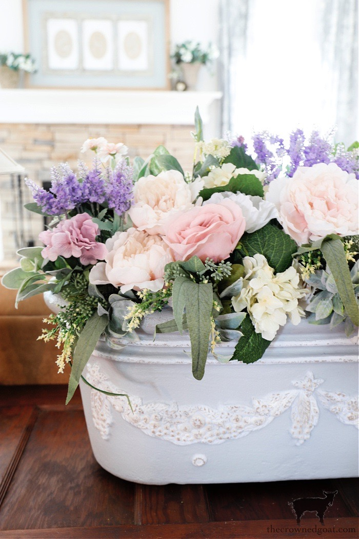 French-Country-Spring-Flower-Arrangment-The-Crowned-Goat Spring Flowers Home Tour Decorating Holidays Spring