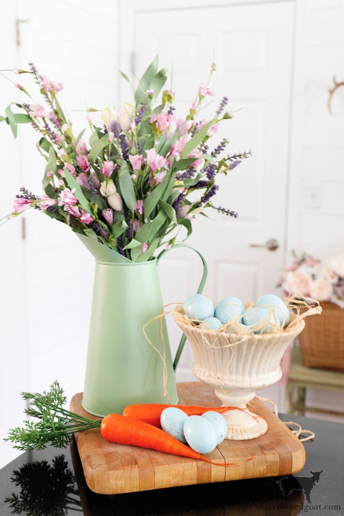 Spring-Home-Tour-Kitchen-The-Crowned-Goat Spring Flowers Home Tour Decorating Holidays Spring
