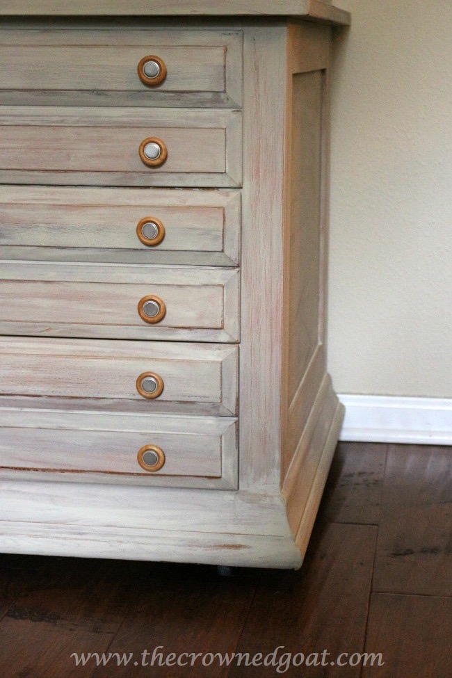 Annie Sloan Chalk Washed 3 Drawer Nightstand In Country Grey