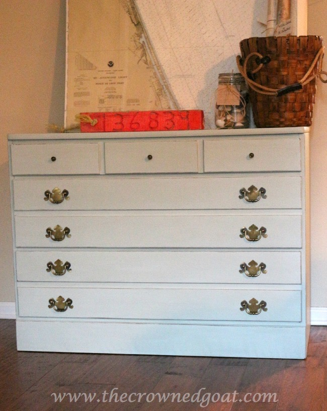 040915-4 Pale Green Sea Glass Inspired Annie Sloan Chalk Painted Dresser Painted Furniture
