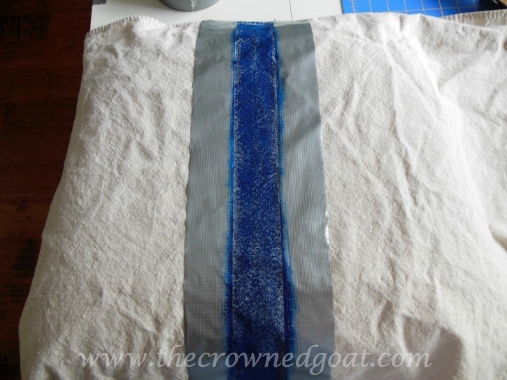 041415-7 How to Paint Grain Sack Stripes on a Drop Cloth Covered Chair DIY