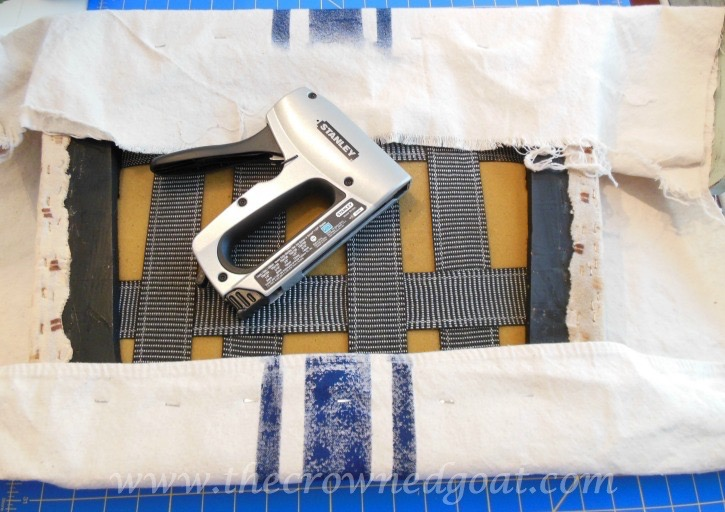 041415-9 How to Paint Grain Sack Stripes on a Drop Cloth Covered Chair DIY
